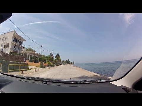 music Driving along the sea - From Tsaousi to Vrachneika (city driving, Greece) - onboard camera